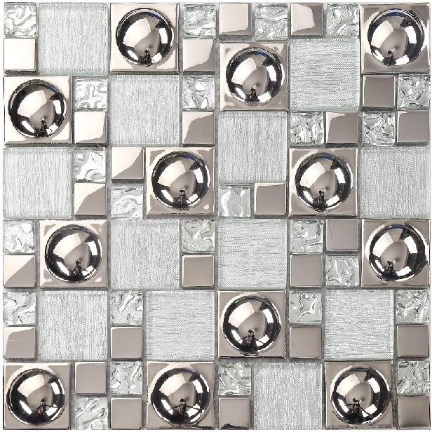 Plata ideas backsplash de la cocina azulejos del baño espejo de ...