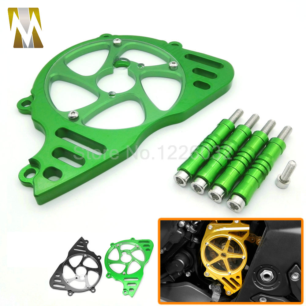 Motorcycle CNC Aluminum Front Sprocket Guard Chain Cover Left Side Engine protection cover For Kawasaki Z1000 2010-2016 waase cnc aluminum front sprocket chain guard cover left side engine for kawasaki z1000 2014 2015 2016