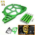 Motorcycle CNC Aluminum Front Sprocket Guard Chain Cover Left Side Engine protection cover For Kawasaki Z1000 2010-2016