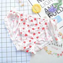 1d07d9356 Sexy Lace Morango Impressão Roupas Íntimas Femininas Personalidade Lacing  Calcinha Sem Costura Cintura Baixa Senhora Arco