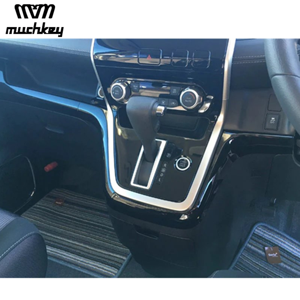 Interior Decorative Accessories For Nissan Serena Car Dashboard Sticker Grand Piano Black Abs Chrome 1Pc Car Styling Auto Part