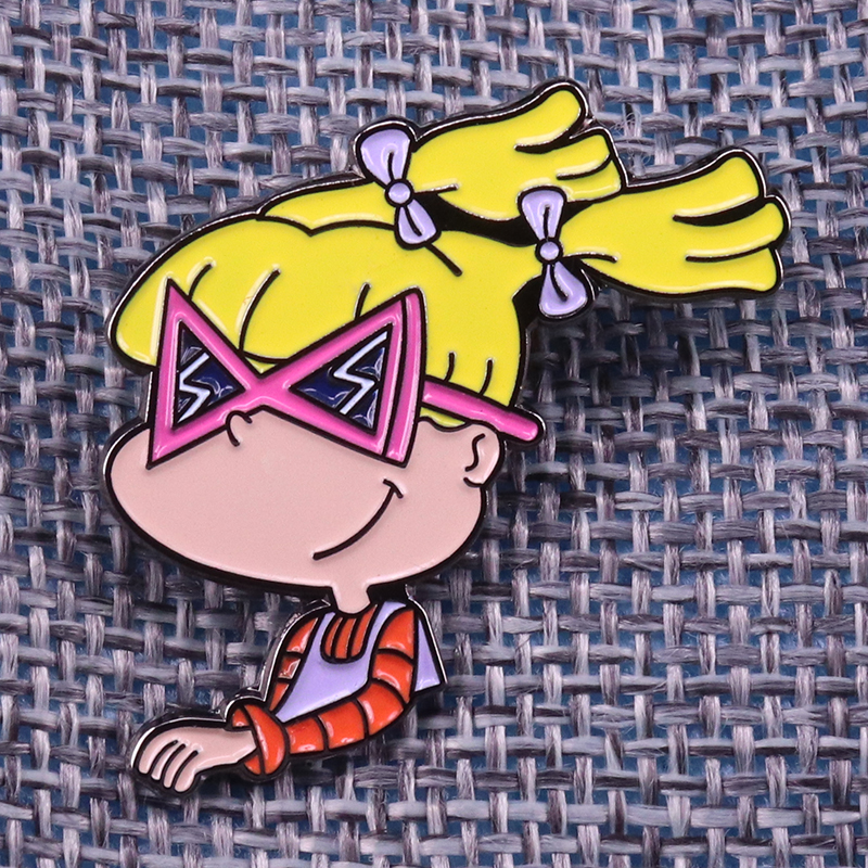 Sunglasses Brooch Backpack-Accessory Inspired-Pin Angelica Pickles Cool Funny Rugrats