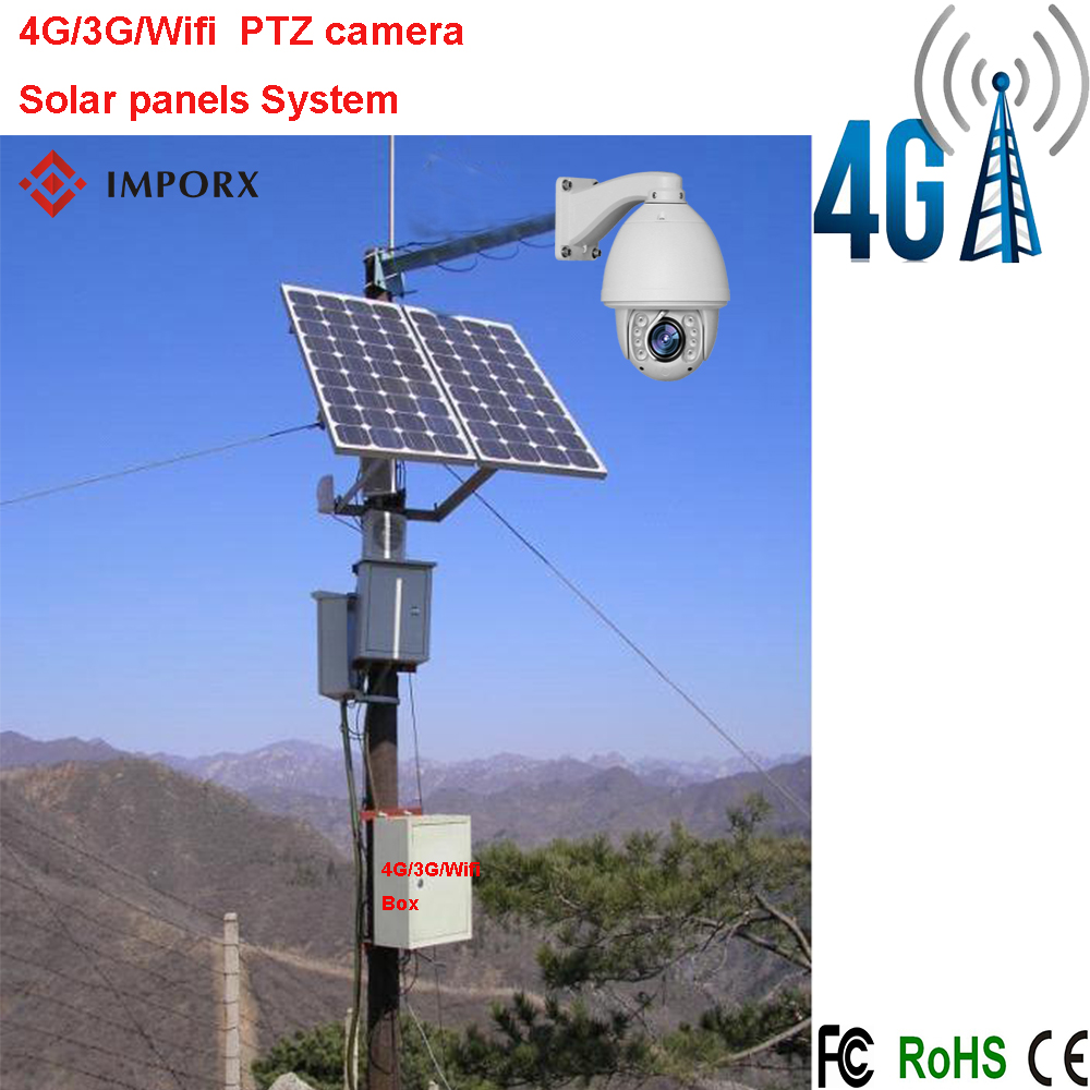 2016 Hot Sell 4G/3G/ WIFI CCTV PTZ IP Camera Security Camera High Speed Dome with Solar Panels System