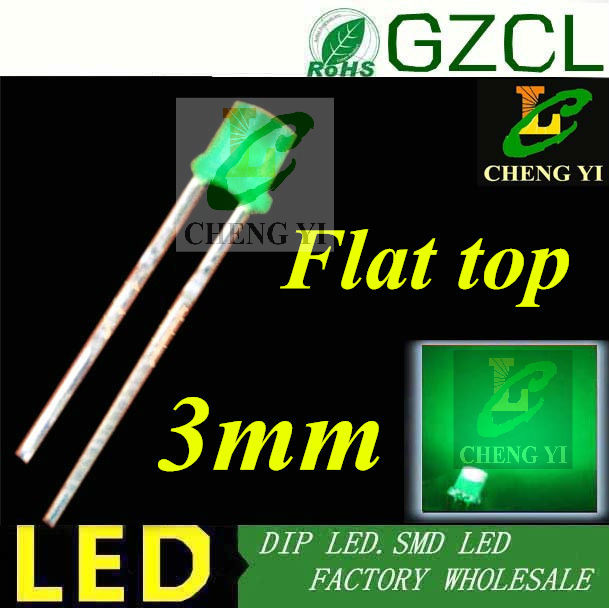 Painstaking Alibaba Led Factory 3mm Led Diode Green Diffused Flat Top Dip Led Bulb 520-530nm 3.0-3.5v(ce&rosh) Special Buy