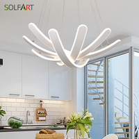 SOLFART LED Lamp Modern Chandeliers With Dimming Light White Pendants Abajur Flesh Suspension Luminaire Lamps