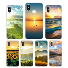 Silicone Case Sun set and riase Printing for Xiaomi Mi 6 8 9 SE A1 5X A2 6X Mix 3 Play F1 Pro Lite Cover