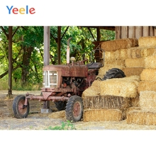 Yeele Vinyl Farm Old Tractor Hay Block Photography Background Children Party Photographic Backdrop For Photo Studio
