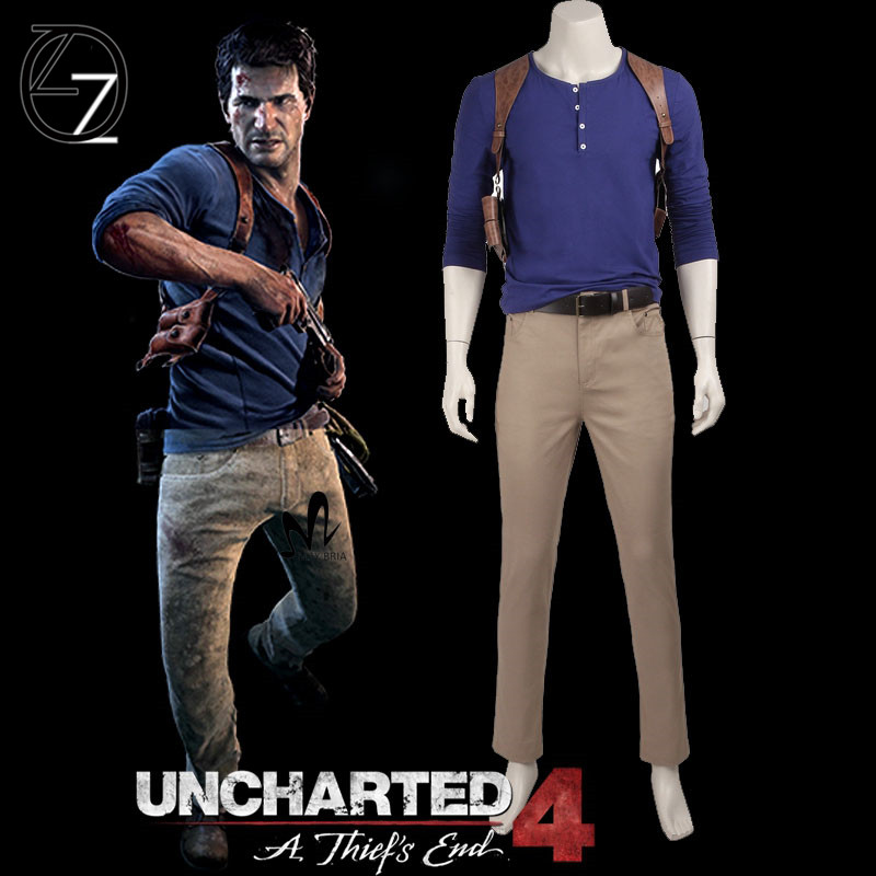 Popular Game Cosplay Uncharted 4a Thief S End Nathan Drake Cosplay Costume Superhero Uniform Adult Carnival Christmas Costume