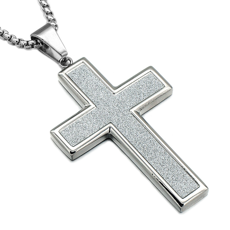 Hip punk cool titanium stainless steel gold powder cross pendants hip punk cool titanium stainless steel gold powder cross pendants necklaces for men christian jewelry in pendant necklaces from jewelry accessories on aloadofball Images