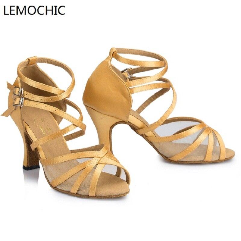 LEMOCHIC best seller genuine leather women hot sale rumba samba latin tango cha cha pole salsa ballroom pointe dancing shoes