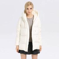 Новинка 2017 года Зима Для женщин тонкий короткий жакет леди одноцветное пальто белого гуся Подпушка куртка плюс Размеры квалифицированных п