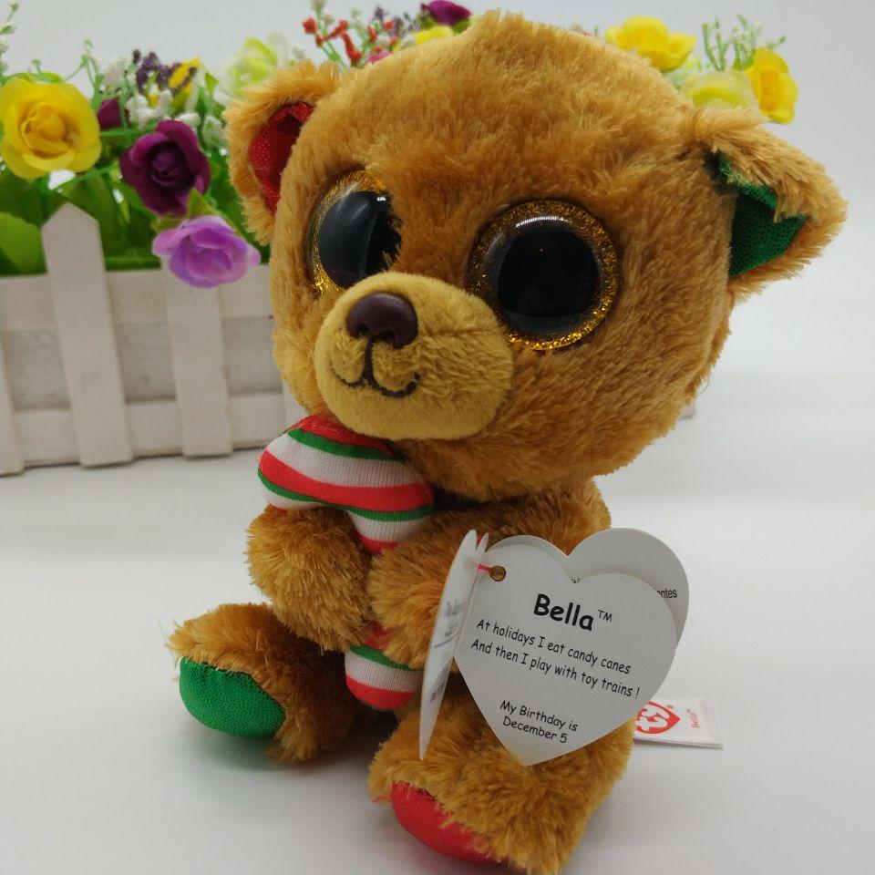 bella bear TY BEANIE BOOS 1PC 15CM BIG EYE Plush Toys Stuffed animals KIDS  TOYS VALENTINE GIFT soft toys cuddly Christmas -in Stuffed   Plush Animals  from ... 40d93a4d6864