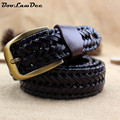BooLawDee Fashion man pin buckle knitted belt 120cm length by 3.4cm width for male all matched wearing accessories 8C041