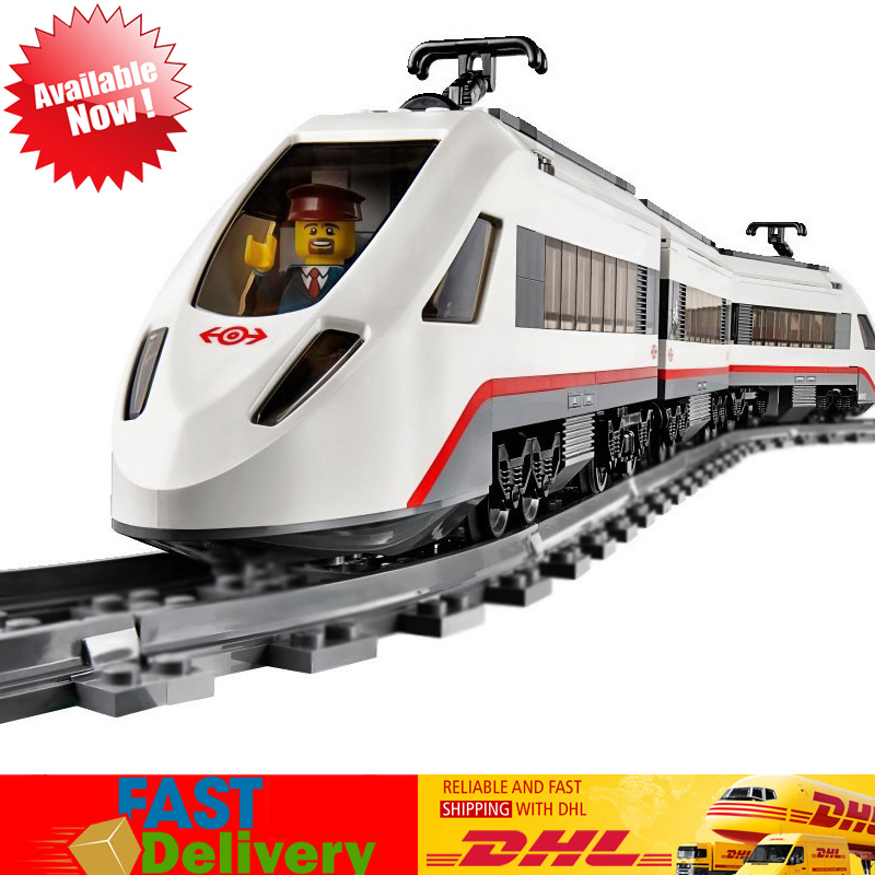 Lepin 02010 610 Pcs Remote Control High-Speed Passenger Train Model Buildong Block Bricks kids Toys Compatible LegoINGlys 60051 lepin 02010 city trains high speed passenger train model building blocks enlighten diy figure toys for children compatible 60051