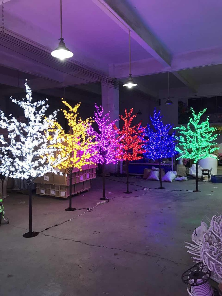 2M 6.5ft Height LED Artificial Cherry Blossom Tree