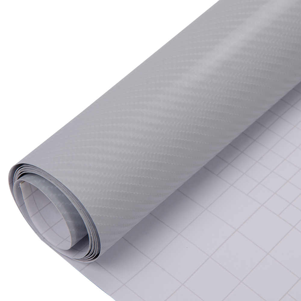 "*12/""x60/"" 3D Matte Clear Transparent Carbon Fiber Textured Car Vinyl Wrap Sticker"