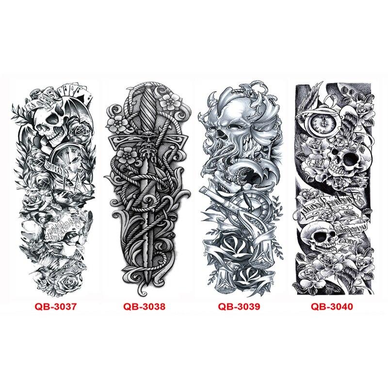 3st Vattentät Tillfällig Tatueringar Ärm Kroppskonst Män Kvinnor - Tatuering och kroppskonst - Foto 2