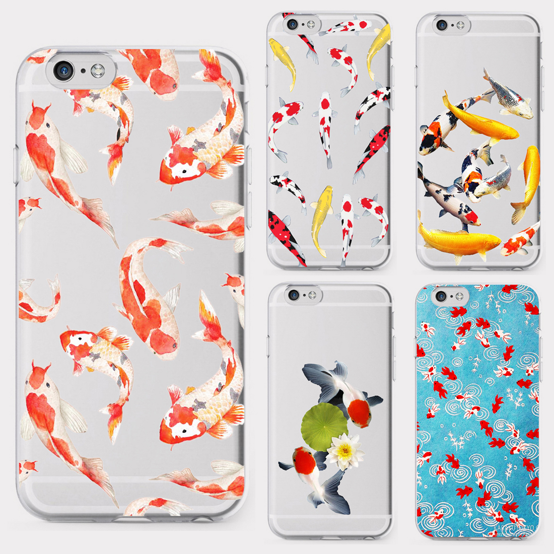 Koi Fish Pond Goldfish Blessing милый мягкий силиконовый прозрачный чехол для телефона iphone 11Pro MAX 6 6s 7 8plus 5s X XS XR XSMax