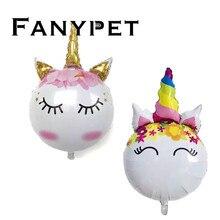 10 50 шт. большие воздушные шары в форме единорога Радужный детский душ тема Единорог День Рождения украшения для детских игрушек поставки надувной шар