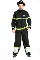 Cool Adult Halloween Costume Cosplay Movie Fireman Costume Carnival Suit For Men Leotard Onesie Fancy Clothing