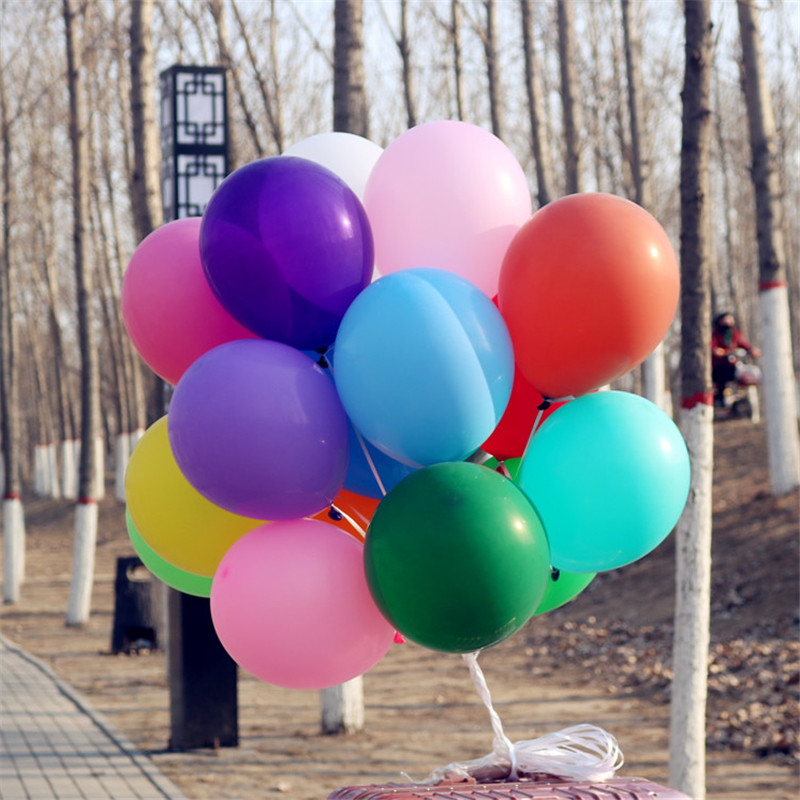 5pcs <font><b>18</b></font> inch Colorful Latex Balloons Helium Inflable Blow Up Balloon Wedding Birthday Party Balloon Decoration image