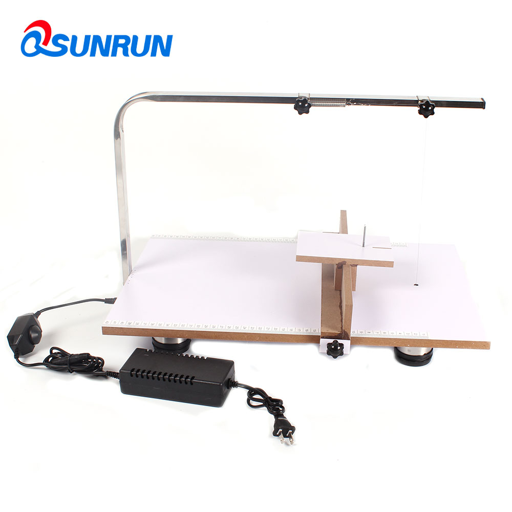 US $56 4 6% OFF|QSUNRUN 220V Board Hot Wire Styrofoam Cutter Foam Cutting  Machine 48*38cm With Temperature Adjustable Hot Wire Work Table tool-in  Tool