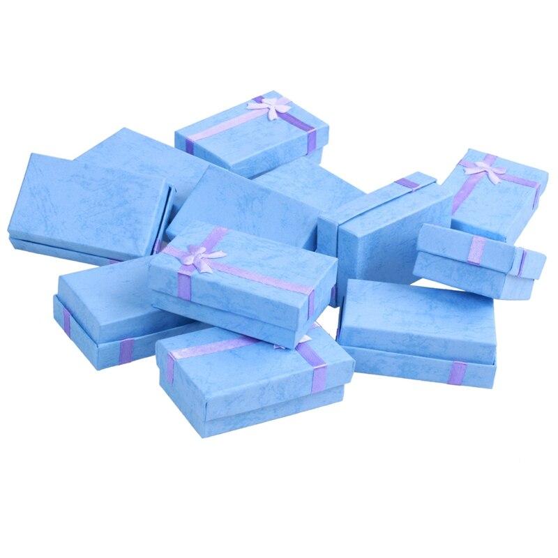 12x Luxury Card Boxes Gift Box for Pendant Bracelet Bangle Earring
