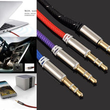 High Quality 3.5mm Jack Male to Male Car Aux Auxiliary Cord Stereo Audio Cable for iPhone pod