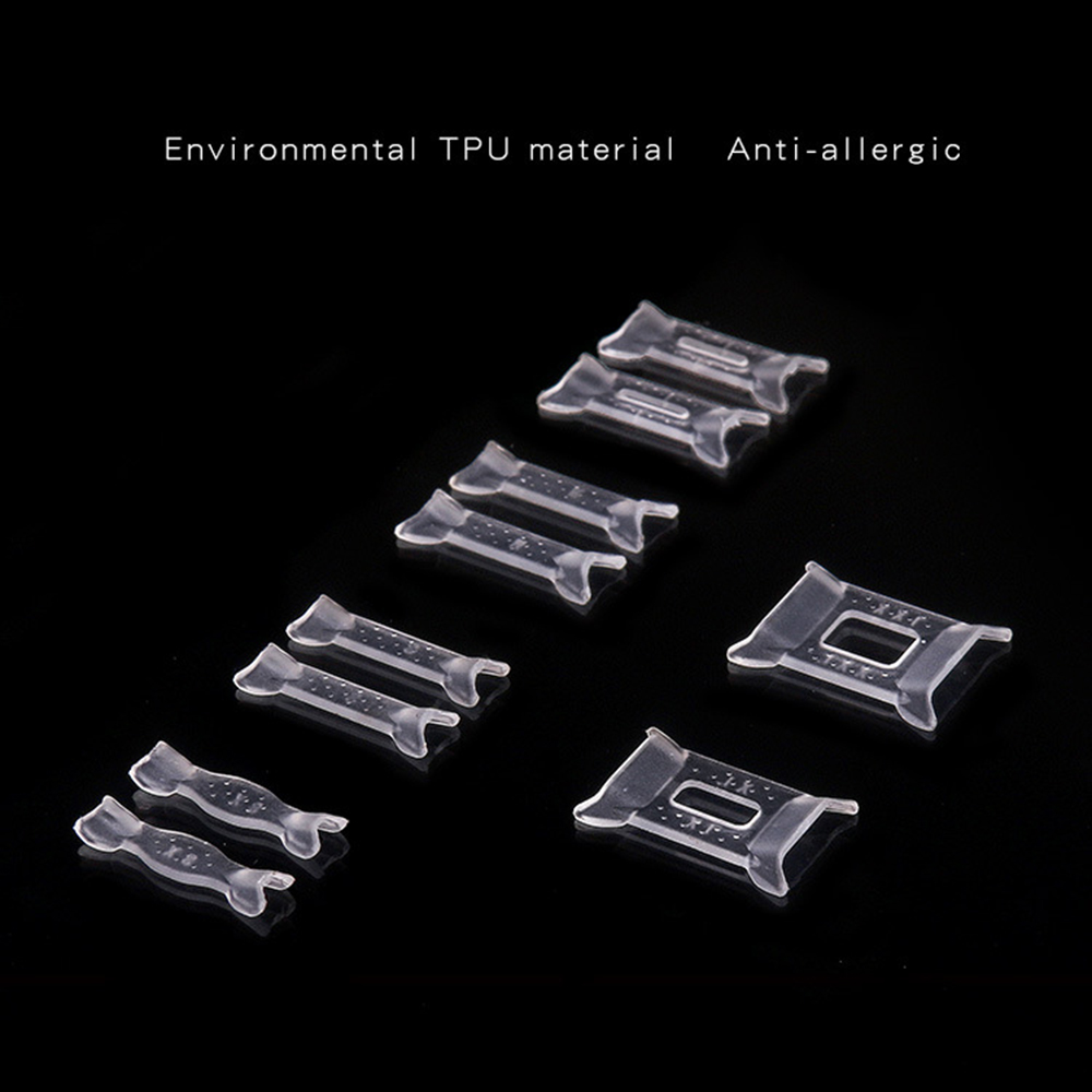 Ring Resizing Jewelry Tools 10pcs Ring Size Adjuster Set Plastic Ring Adjuster Pad Reducer Jewelry Resizing Tools
