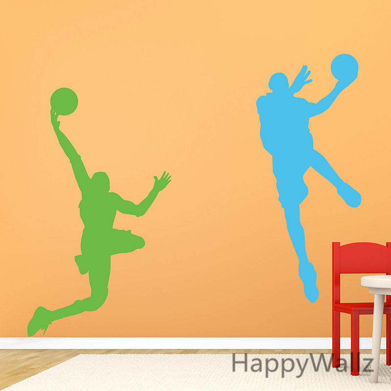3d Basketball Player Wall Sticker Basketball Wall Decal Removable ...