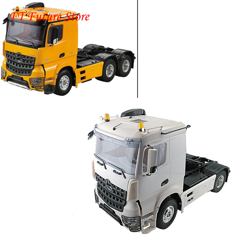 Collection 1/14 RC Accessory Trailer Head Milky Color RC 3 Speed Tiaxial TRAILER Hauler Assembly Car For 1:14 RC Tractor Truck