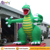 High quality green giant inflatable dinosaur promotional customized blow up dinosaur cartoon characters for decoration toys