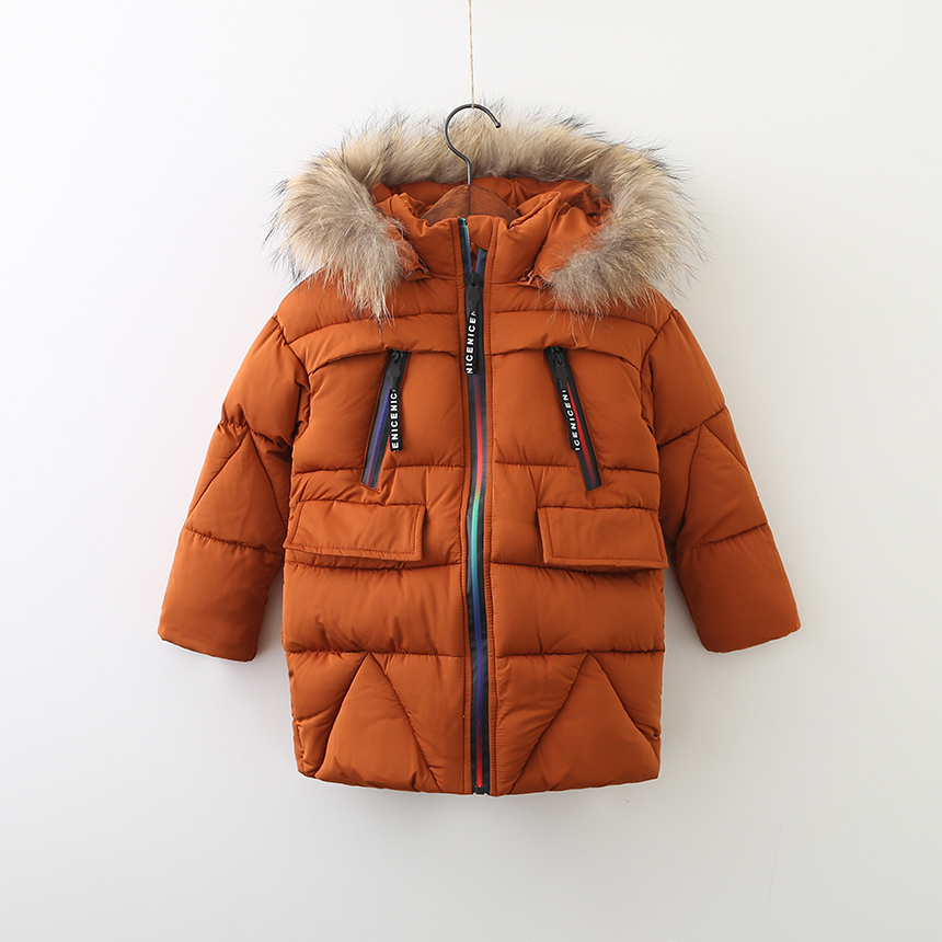 Kids Baby Solid Thickened Clothes Girls Parkas Zipper Hooded Unisex Boys Outerwear Autumn Winter Children Clothing 5pcs/LOT