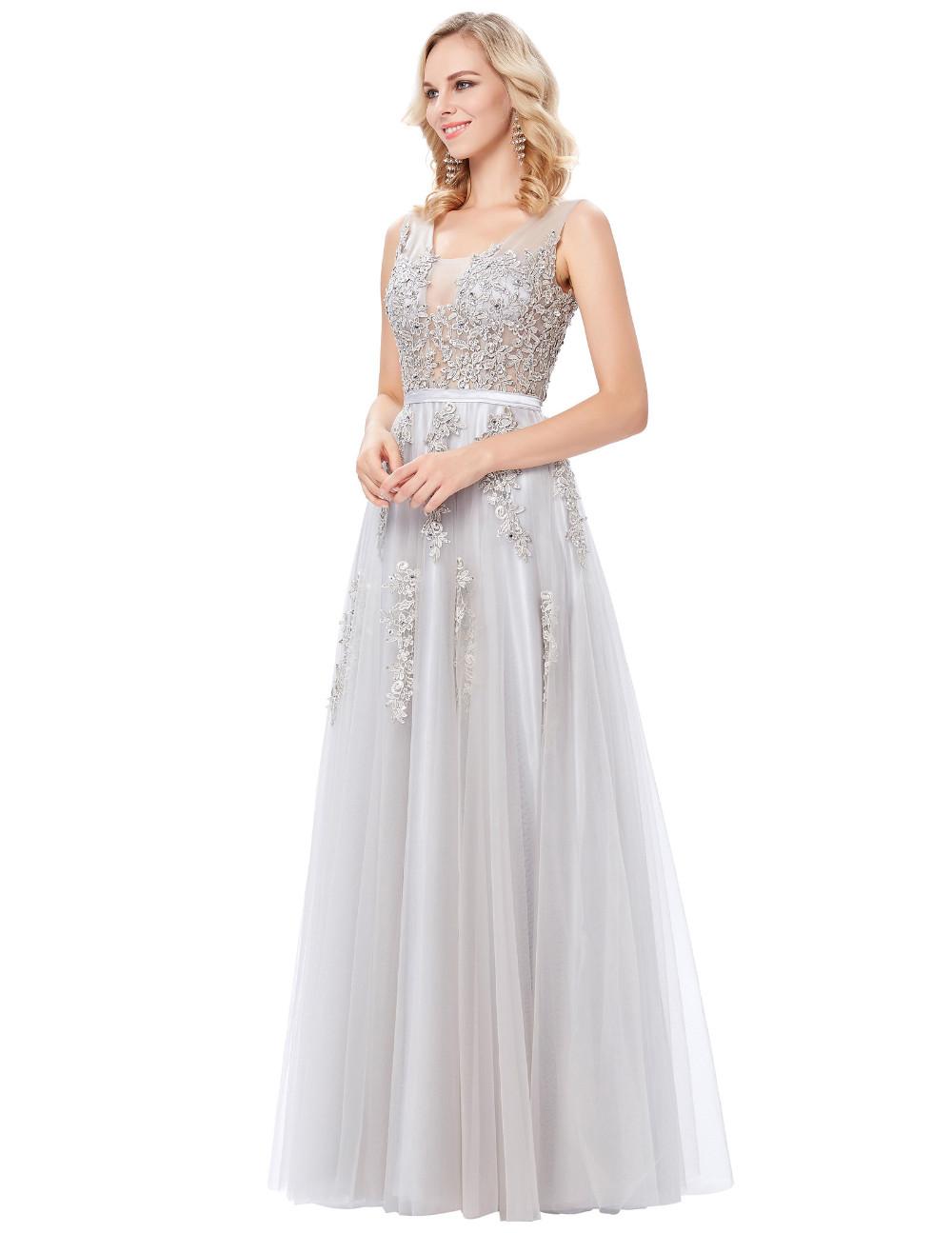 Grace Karin Tulle Appliques Celebrity Prom Dress Sexy V Back Sleeveless Long Royal Blue Robes De Soiree 2017 Longue Prom Dresses 22