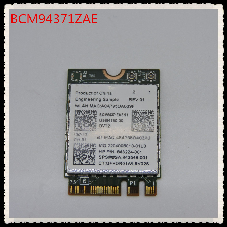 BCM94371ZAE 802.11ac SPS 849916-001 849915-001 BT4.1 867Mbps BCM94371 M2 NGFF WiFi Wireless Network Card PK BCM94352Z For HP(China)