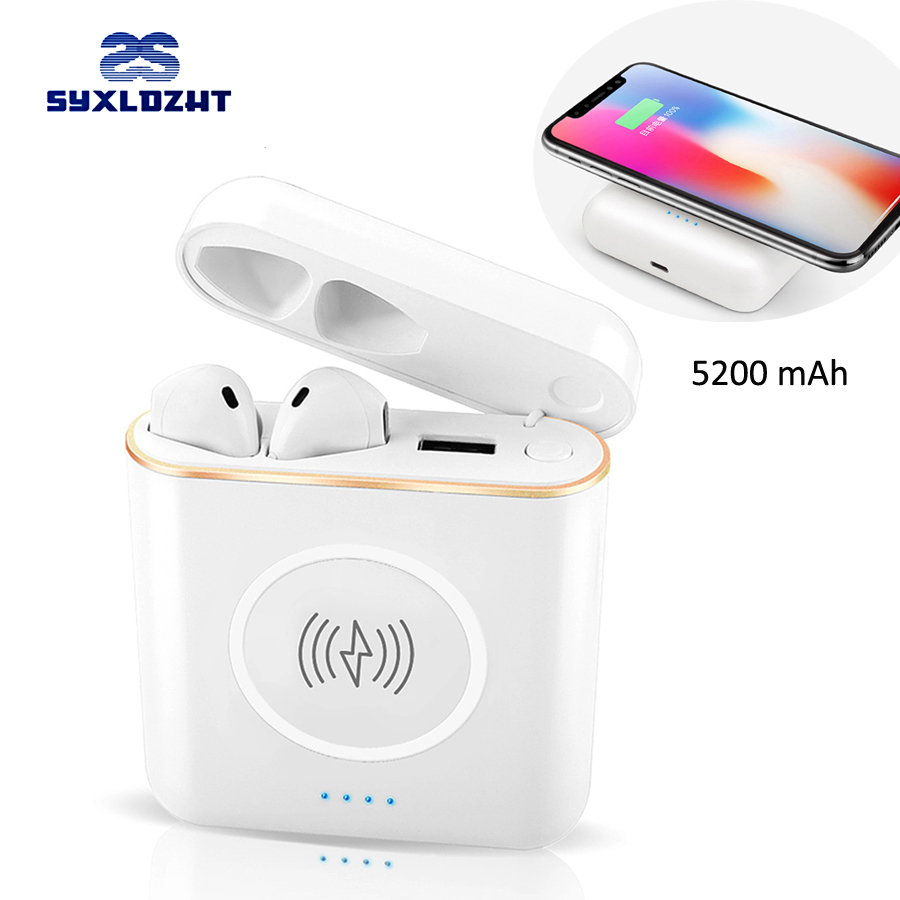TWS Mini Wireless Earphone Bluetooth Earbud Headphone Stereo Headset with Wireless Charger Case for IPhone Samsung Xiaomi Phone dtbg smart usb laptop backpack large capacity school bags for teens anti theft large capacity travel mochila sac rugzak plecak
