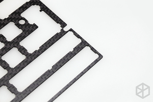 Image 5 - 60% الألومنيوم الميكانيكية لوحة المفاتيح لوحة من ألياف الكربون دعم xd60 xd64 3.0 v3.0 gh60 دعم انقسام المسافة 3u المسافة
