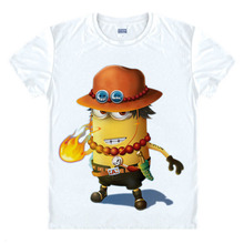 Anime Despicable Me T shirt minions new design Monkey D. Luffy Assassin's Creed Wolverine cool unisex t-shirt