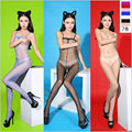 New Sheer Tube Tops Open Crotch Pantyhose Bodystocking Sexy Stockings Women's Oil Gloss Shiny Sexy Lingerie Plus Size ST1702302