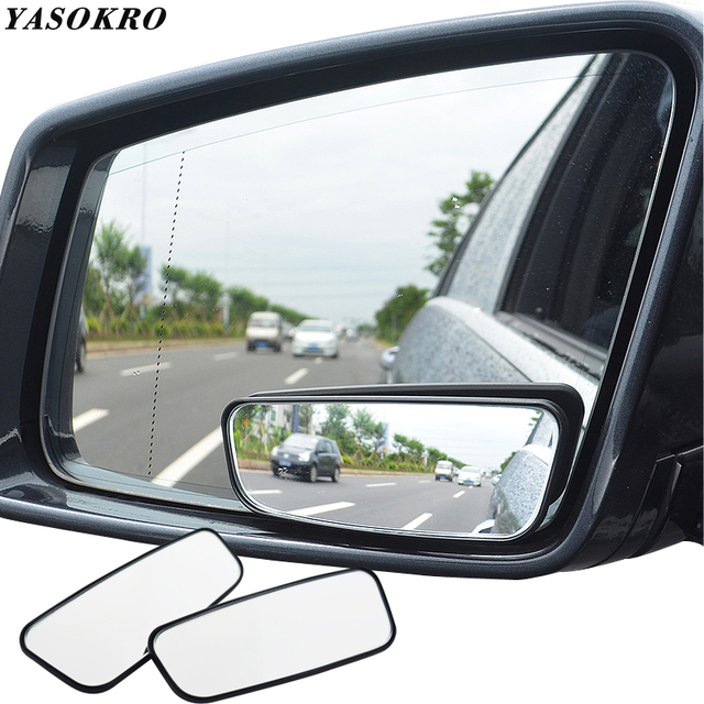1 Pair Blind Spot Mirror Wide Angle Mirror 360 Degree Adjustable Convex Rear View Mirror Car mirror for All Universal Vehicles