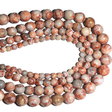 Natural Stone Round Red Spider Web Strip Network Net Mesh Jaspers Strand Beads For DIY Bracelet Necklace Jewelry Making 4-12mm