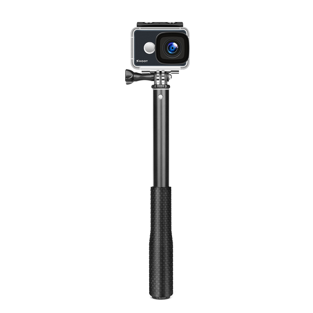 SHOOT Adjustable Aluminum Selfie Stick Monopod for GoPro Hero 7 6 5 Black Silver Session Xiaomi Yi 4K Sjcam Sj4000 Action Camera