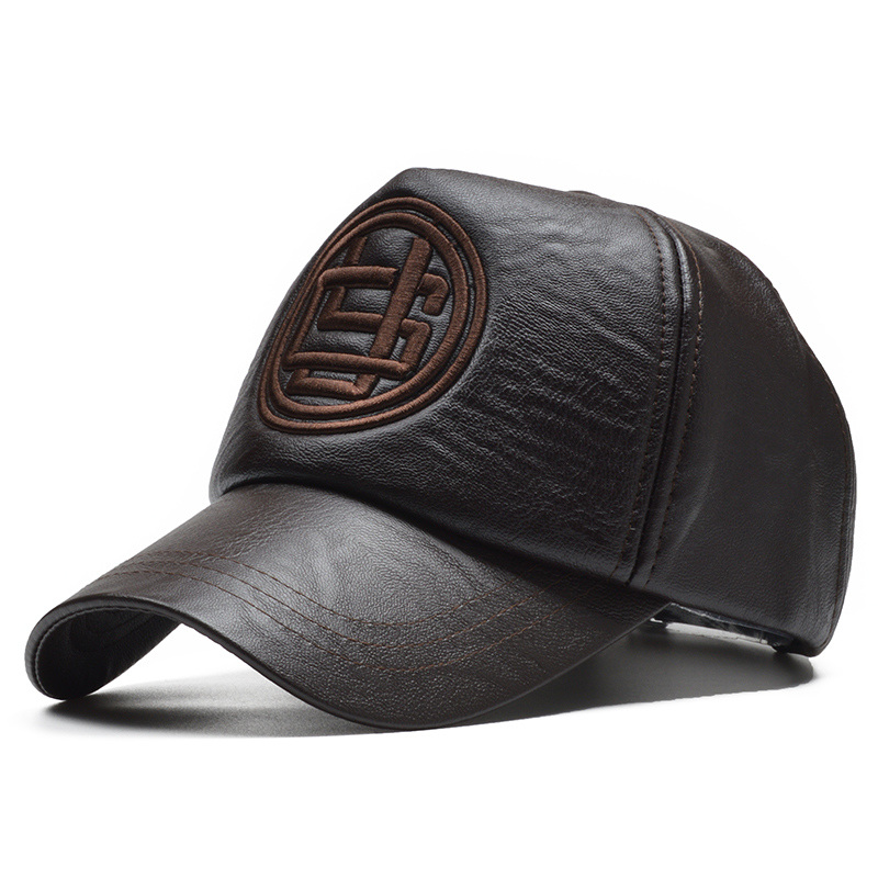 Dropwow  NORTHWOOD  High Quality Pu Leather Baseball Cap Men Winter ... 7bfb6567bf61
