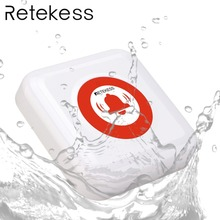 Retekess TD002 Wireless Calling Bell Waterproof IPX3 Call Button Transmitter Elderly emergency call for Nurse Calling System
