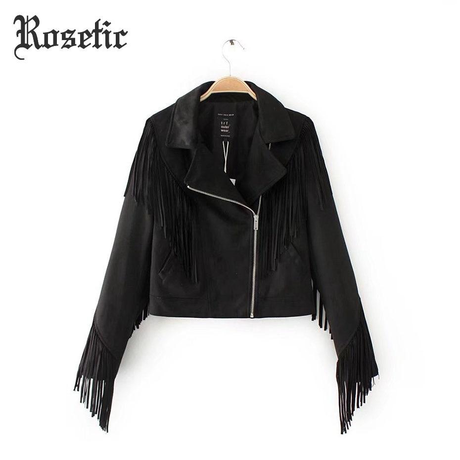Rosetic готический панк-куртка тонкая кисточка на молнии черные куртки популярной рок-плотная Улица куртка пальто одежда гот зимнее пальто