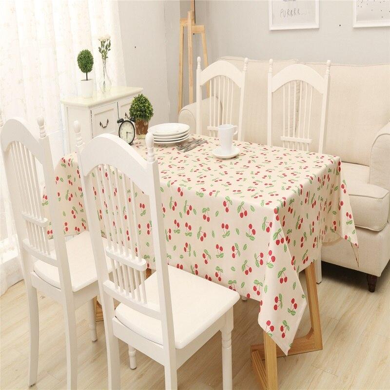 Прямоугольный Хлопок линии Скатерти цветочный свежий Стиль пастырской скатерти покрытие стола для Кухня Home Decor Manteles Para Меса