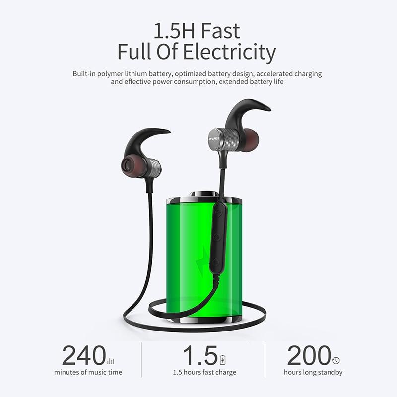 AWEI T12 Bluetooth Headphone Wireless Earphone Headset For Phone ...
