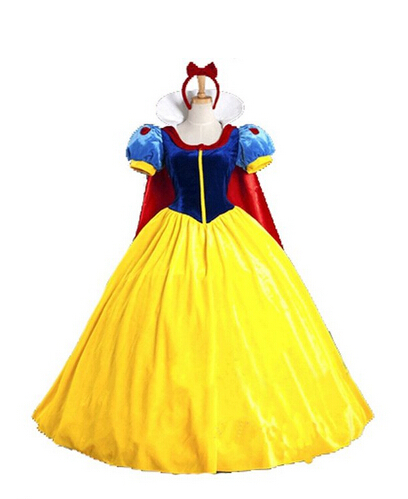 Top Quality Custom made Snow White Princess Dress Cosplay Costume Halloween Party Adult Women Dresses