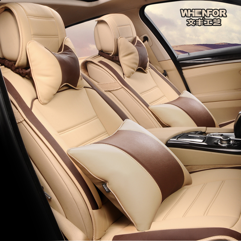 Free Shipping 2015 Hot Sale High Quality Car Accessories Four Seasons General Leather Seat Cover For Front And Rear In Automobiles Covers From