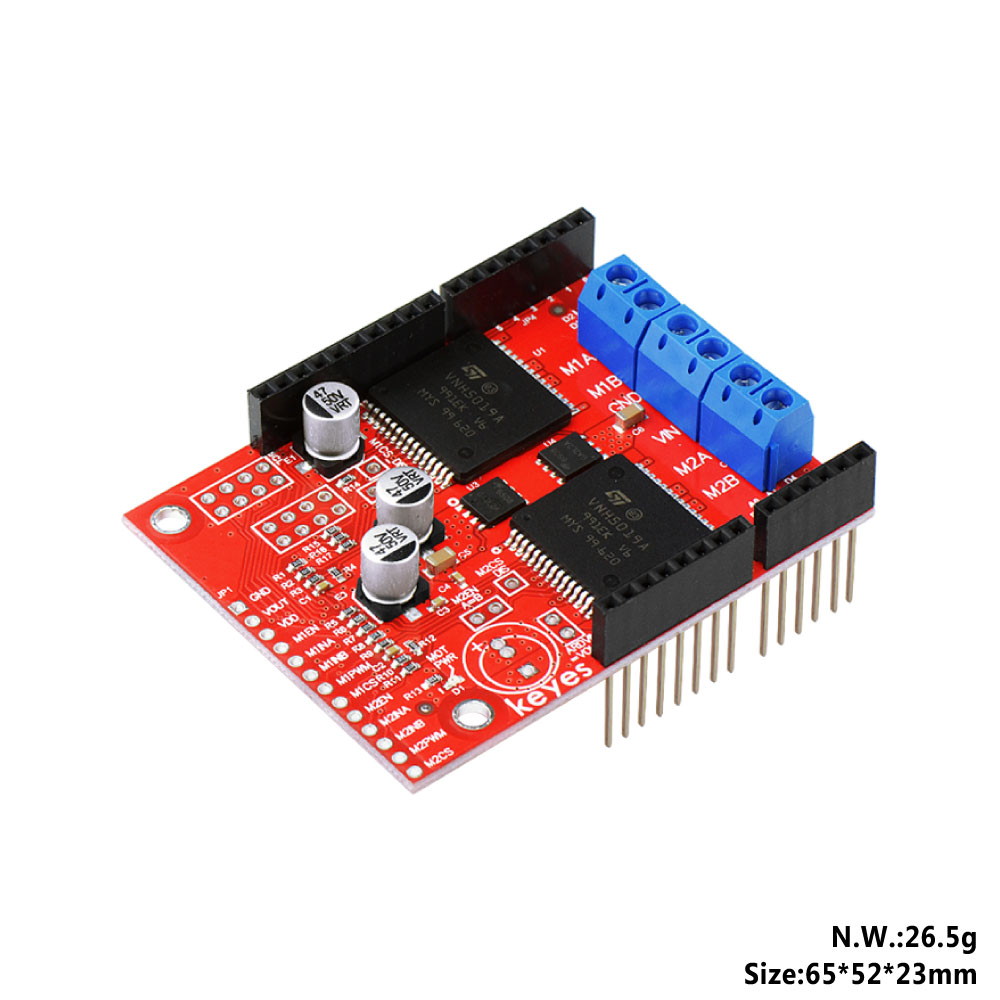 KEYES Dual High Power DC Motor Driver Shield VNH5019 Compatible with ARDUINO (Environmental Protection)-in Demo Board from Computer & Office